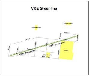 v and e greenline