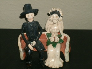 day of the dead wedding statue