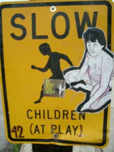 children at play sign cooper young