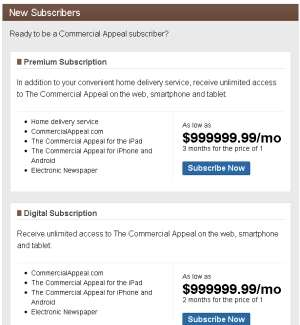 commercial appeal subscription